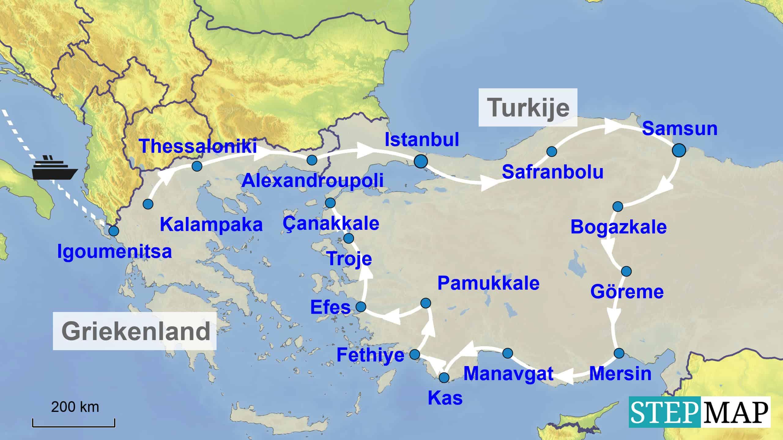 Camperreis Noord-Griekenland en Turkije
